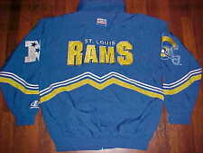Logo Athletic NFL NFC Pro Line St. Louis Rams Football Yellow Blue Zip Jacket L