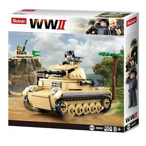 WW2 TANK PANZER 2 356 PCS M38-B0691 ARMY SLUBAN BUILDING BLOCKS MODEL KIT