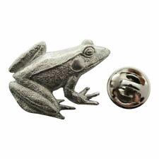 Frog Pin ~ Antiqued Pewter ~ Lapel Pin