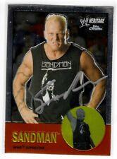 Sandman Signed 2007 Topps Chrome Wwe Heritage Card #19 Wwf