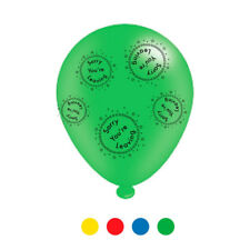 Pack Of 8 Multicoloured Sorry You're Leaving Latex Balloons - Air Fill or Helium