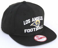NFL LA Rams New Era Los Angeles Football 9FIFTY Snapback Hat - Black
