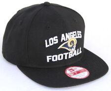 026944b86d4 NFL LA Rams New Era Los Angeles Football 9FIFTY Snapback Hat - Black