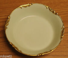 "J.P. L France "" Jade Green "" Guilded Gold Rim Bowl 1920's Rare"