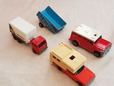 MATCHBOX cars camper superfast Mercedes container truck armored van articulated