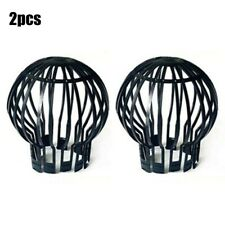 2PC Downpipe Filter Drain Pipe Gutter Leaf Debris Guard Easy To Install