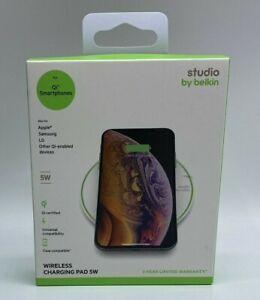 Belkin Studio 5W Universal Wireless Charging Pad Qi-Smartphones Apple Samsung LG