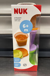 NUK Baby Stackable Food Storage Containers Microwave & Freezer Safe 6 Pack