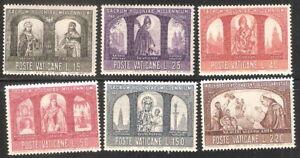 Vatican City 1966 Millennium Christianization of Poland MNH (SC# 433-438)