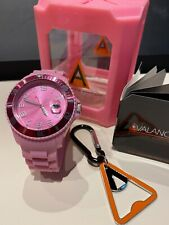 Avalanche Unisex Alpha Collection Pink Watch Plus FREE Gift NEW Boxed Bargain