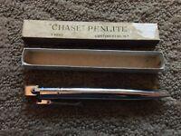 Vintage Chase PenLite Mechanical Pencil Lighter w/ Original Box