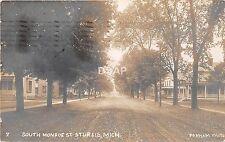 C29/ Sturgis Michigan Mi Real Photo RPPC Postcard 1910 South Monroe St Homes