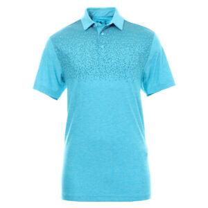 Under Armour UA Mens Golf Playoff Blue Graphic Loose Polo Shirt Small