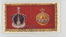 1937 Kensitas Coronation Tobacco Base #45 The Queen's Crown and Orb Card 1i3