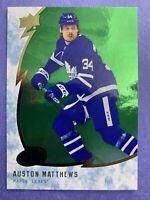 2019-20 Upper Deck Ice Green Paralllel #16 Auston Matthews Toronto Maple Leafs