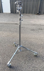 Matthews Baby Junior Triple Riser Stand w/ Wheels Chrome 386033, Clamp Excellent