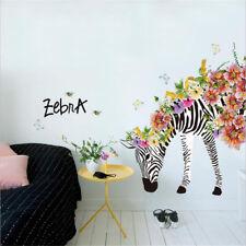 Animal Zebra Wall Stickers Removable Art Vinyl Decal Mural Kids Bedroom Decor