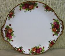 "Royal Albert China Old Country Rose 10½"" Cake Plate Cookie Sandwich Tray England"