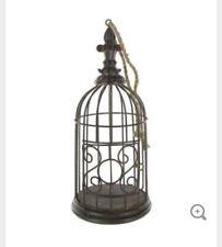"Home Decor Bird Cage Metal NWT Hobby Lobby Antique Brown 898536 11"" Fleur 8028"