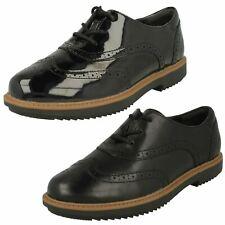 Ladies Clarks Lace Up Brogue Shoes 'Raisie Hilde'