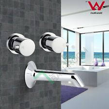 Bathroom Round Bath spout with 1/4 turn taps set Vanity water Faucet Watermark
