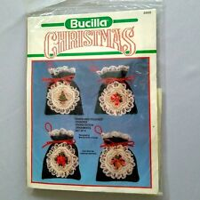 Bucilla Counted Cross Stitch Christmas Ornaments Kit 82632 Pouches New Sealed Gc