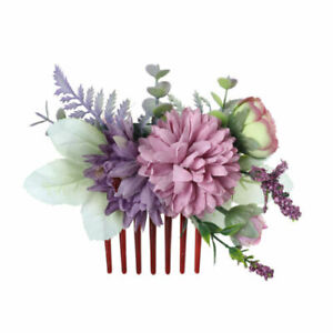 Boho Bride Flower Hair Comb Clips Pins Headband Floral Wedding Hair Accessories