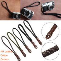 Camera Canvas Poly Urethane Leather Cotton Handmade Hand  Wrist Strap