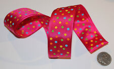 RIBBON with PINK POLKA DOTS, 1 Mtr, Gifts/Cards/Bows