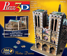 WINNING SOLUTIONS PUZZ 3D JIGSAW PUZZLE NOTRE DAME GOTHIC CATHEDRAL 366 PCS