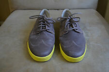 COLE HAAN AIR BROWN DISTRESSED LEATHER WINGTIP NEON SOLE CASUAL SHOES 10 M