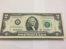 2003 $2 US Two Dollar Bill Note