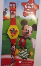 Disney * Kinder Digital Uhr * Motiv MickeyMouse * Rot* Clubhouse * 5 Funktionen