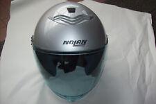 Nolan N43 Classic N-Com Größe L Helm Open Face Motorbike Motorrad  Silber
