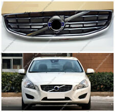 Chrome Front Bumper Middle Grille Grill Replace j Fit For VOLVO S60 V60 11-13