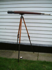 Vintage British Naval telescope by T.Cooke and Sons on quality tripod.