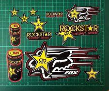 Set of 11 Stickers Vinyl Decal Rockstar Energy Drink Motorcycle Window Car Wall