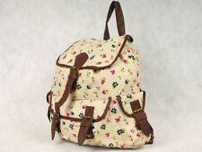 Ladies Girls Canvas Rucksack Backpack School Bag