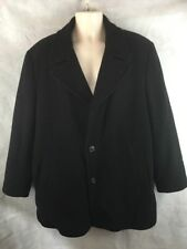 Newport Harbor Wool/Nylon/Cashmere Black Peacoat Men's Size Large Quilt Lined