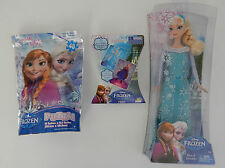 DISNEY FROZEN Elsa Doll + 48pc Puzzle + Fish Card Game BRAND NEW, Licenced