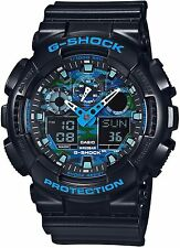 Casio G-Shock Camouflage Face Ana Digi World Time Watch GA100CB-1A