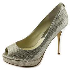 Zapatos de tacón de mujer Michael Kors de tacón alto (más que 7,5 cm) de color principal plata