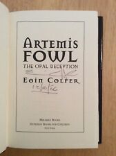 SIGNED by Eoin Colfer - Artemis Fowl The Opal Deception HC 1st/1st + Pic