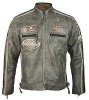 Men's Vintage Desert Biker Leather Jacket