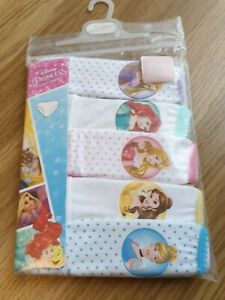 New Mothercare pack of 5 Disney Princess Pants Knickers Age 1 1/2 - 2