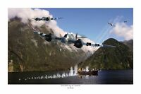 "WWII WW2 RAAF RAF Bristol Beaufighter Aviation Art Photo Print - 12"" X 18"""
