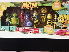 Maya The Bee 8 Multi Pack Articulated Figures - Butterfly Childrens Toy Age 3+