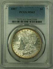 1887 Morgan Silver Dollar $1 Coin PCGS MS-63 (20) VV