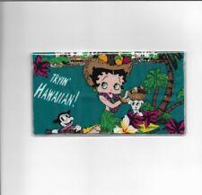 BETTY BOOP CHECKBOOK COVER FABRIC HAWAIIAN  NEW ITEM DOG FLOWERS