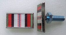 Afghanistan campaign ribbon license plate bolts, made in America!